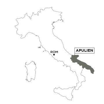 Piemont Weinbau Karte.Italien Apulien